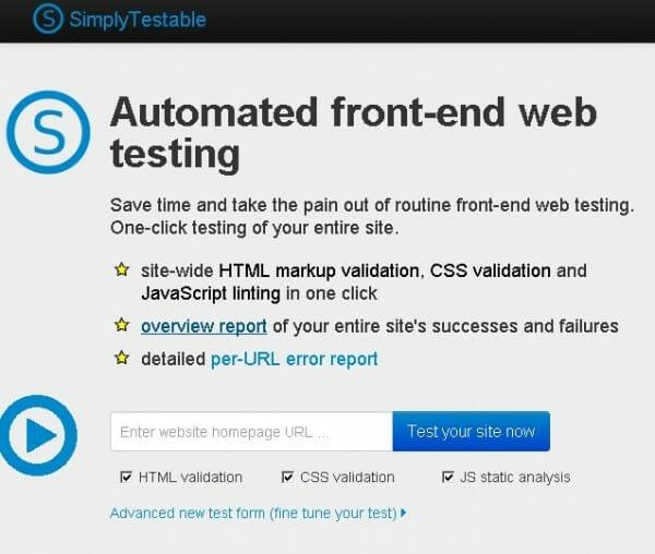   Simplytestable : Ou comment vérifier la validité d'un site d'un simple clic