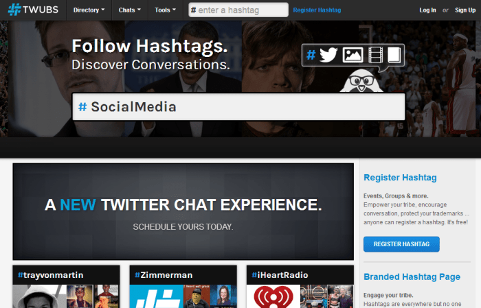TWUBS hashtag tool
