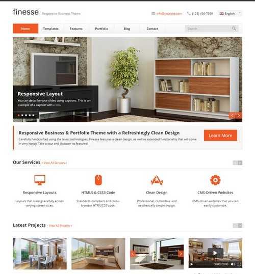 Finesse Business WordPress Theme