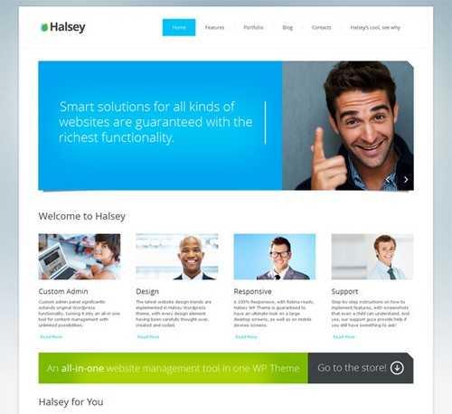 Halsey Business WordPress Theme