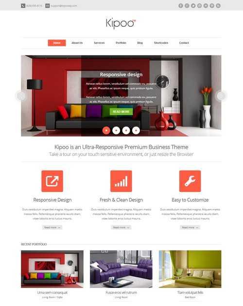 Kipoo Responsive Business WordPress Theme