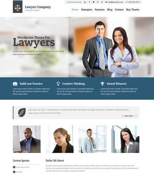 Lawyer Adaptive WordPress Theme