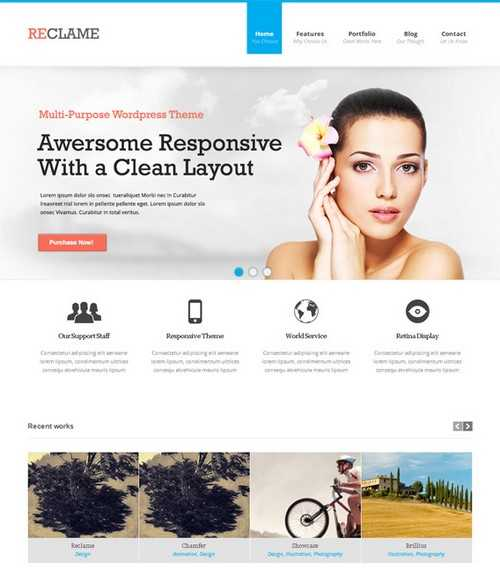 Reclame WordPress Theme