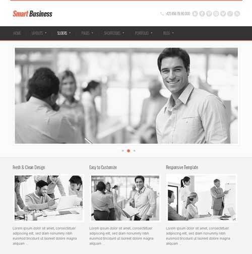SmartBusiness Responsive WordPress business themes