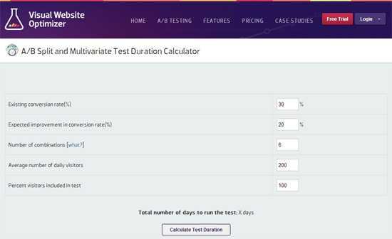 calculer le temps nécessaire pour effectuer une campagne d'AB testing