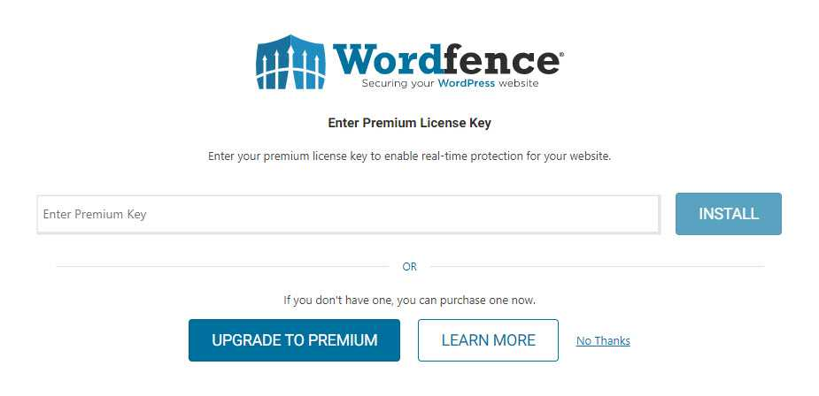 wordfence options