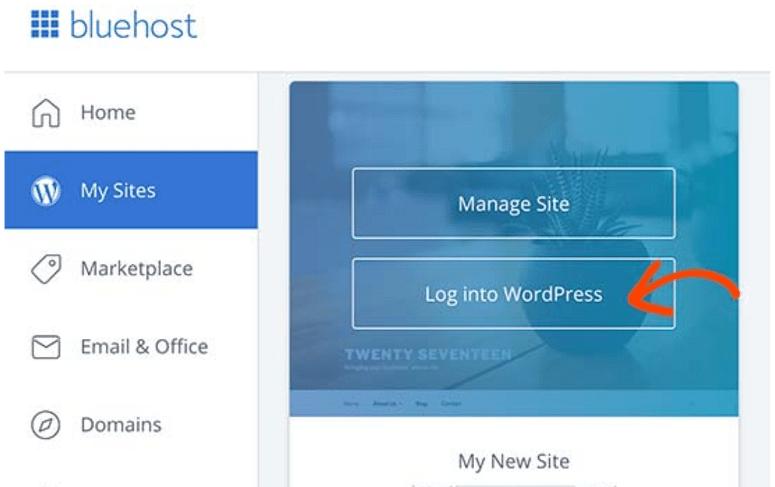 installer wordpress dans bluehost