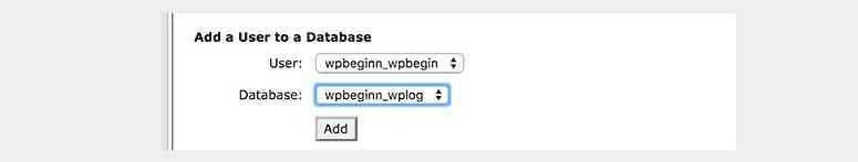 Ajouter un utilisateur à la base de données